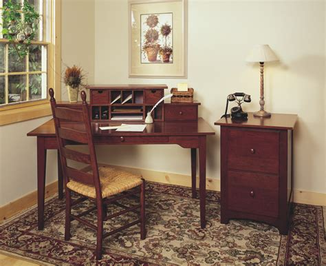 shaker style cherry office furniture traditional home