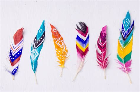 diy painted feathers soulmakes