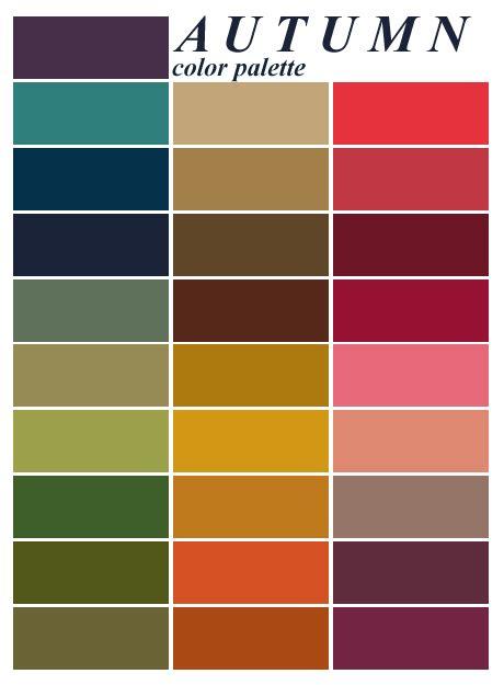 warm autumn color palette colour analysis autumn woman