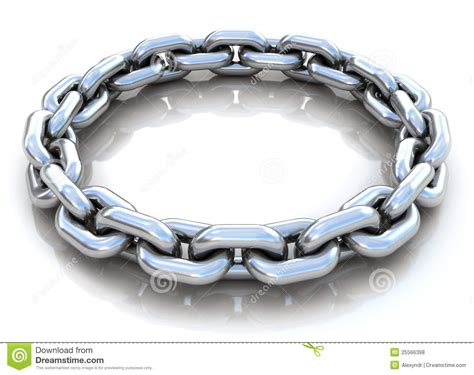 metal leash metal chain circle royalty free stock photos image 25566398