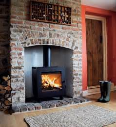 wood burning stove fireplace ideas stack built in shelves hearth ideas