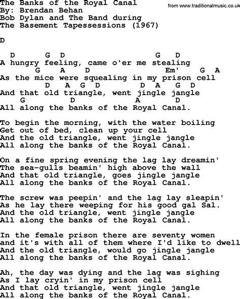 banks lyrics bob song the banks of the royal canal lyrics and