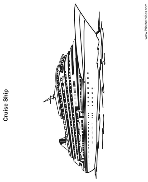 Free Coloring Pages Of Cruise Ships Cruise Ship Coloring Page