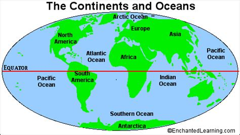 map of continents and oceans environmental kiddos