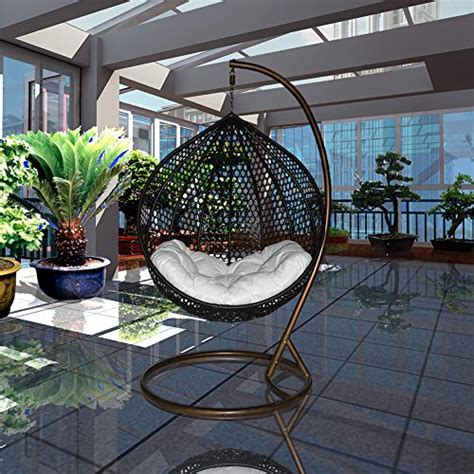 Outdoor Cushions Uae Ucharge Outdoor Swing Chair Hanging Hammock With Cushion