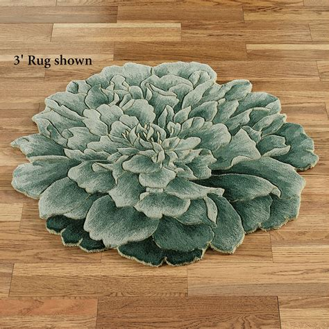 Flower Rug Tina Bloom Flower Shaped Round Rugs