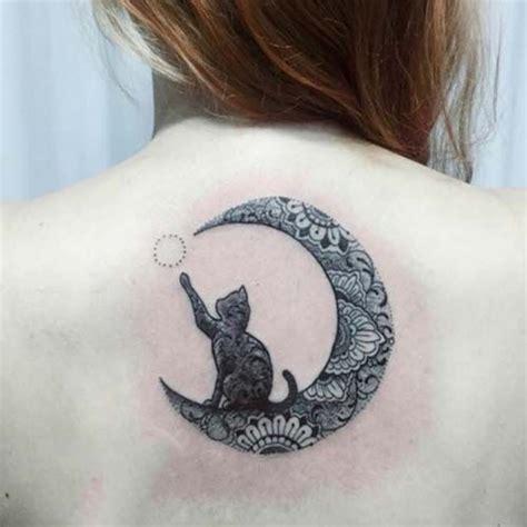 tattoo cat moon hilal ay ve kara kedi d 246 vmesi crescent moon and black cat