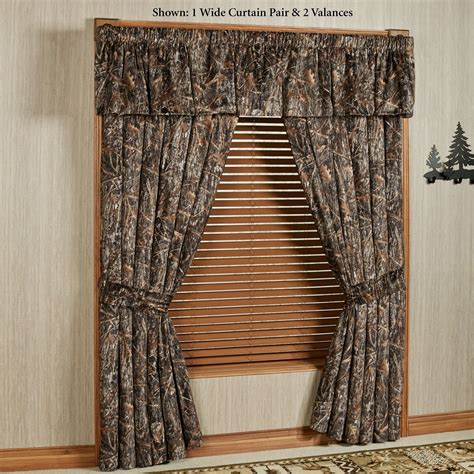 rustic curtains window treatments conceal brown rustic camo window treatment