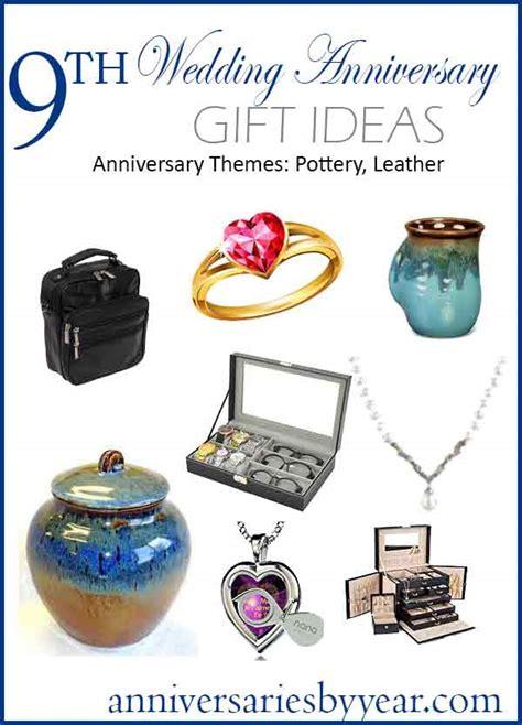 anniversary ninth wedding anniversary gift ideas