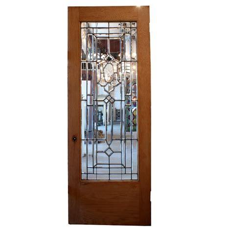 Amazing 34 Salvaged Exterior Door With Beveled Leaded Cut Glass Doors