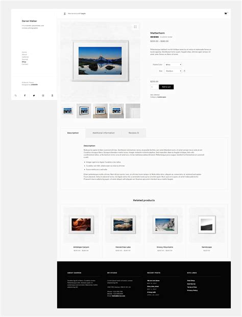 themes compatible with woocommerce darren photography woocommerce compatible wordpress