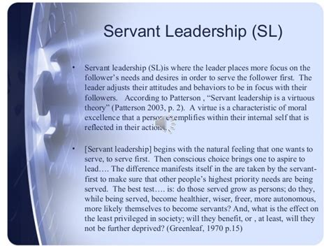 comparing  contrasting servant leadership styles
