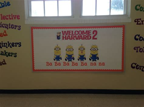 printable fonts for bulletin boards my back to school bulletin board minions bulletin