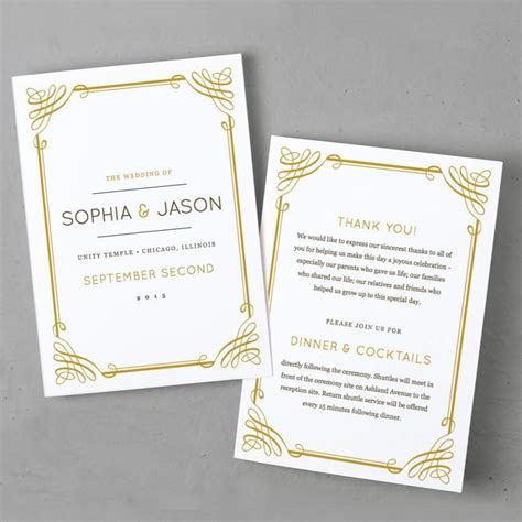 Invitation   Printable Wedding Program Template #2425478