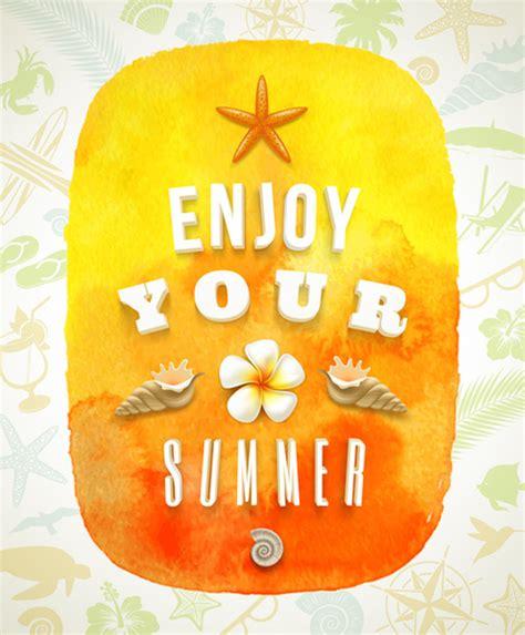 Enjoy Summer enjoy summer time creative vector free vector in adobe