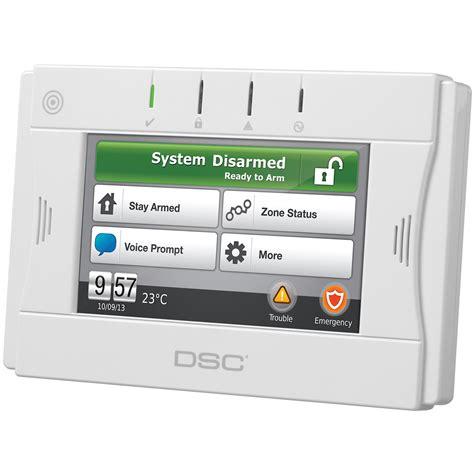 dsc wtk5504 wireless 2 way touch screen alarm keypad