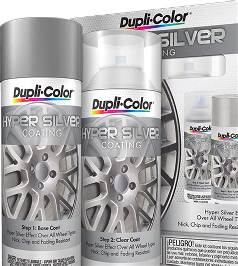 hyper silver coating aerosol kit dupli color