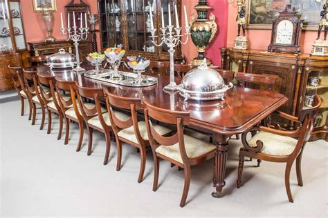 victorian dining room sets vintage victorian style mahogany dining table and sixteen