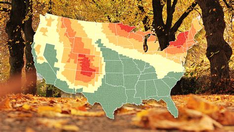 fall colors map 2018 u s fall color prediction map for landscape