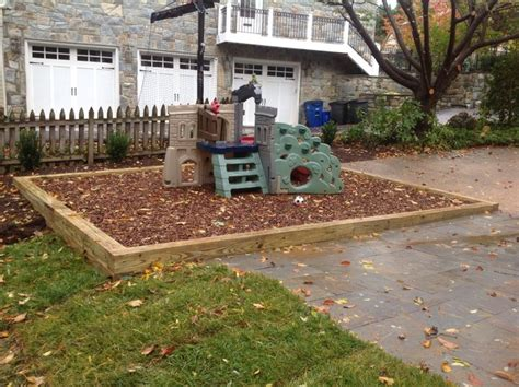 wood chip backyard wood chip play area traditional landscape other by