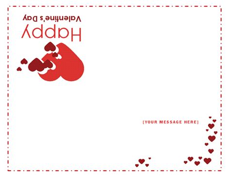 valentines day card quarter fold templates word blank and general office