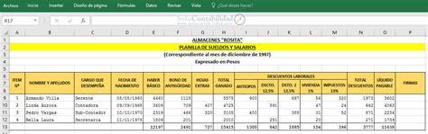 sueldos y salarios control y contabilizacion trabajos de aguinaldo planilla de sueldos y salarios planilla de