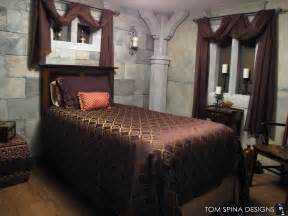 castle themed bedroom foam sculpted decor tom spina