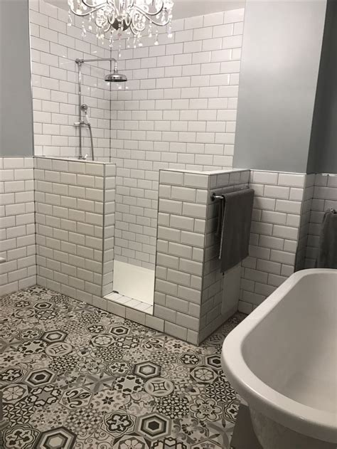half wall shower 1000 ideas about half wall shower on half