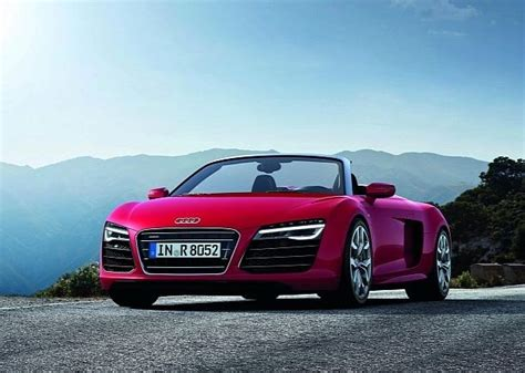 pink audi pink convertible audi r8 yes cars