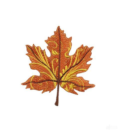 leaf205 iridescent autumn leaf embroidery design