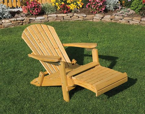 adirondack chairs with retractable ottoman folding recliner chair with footrest full image for chic