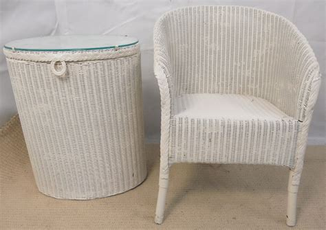 lloyd loom armchair lloyd loom armchair laundry basket sold