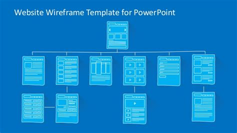 wireframe templates slidemodel website wireframe powerpoint template