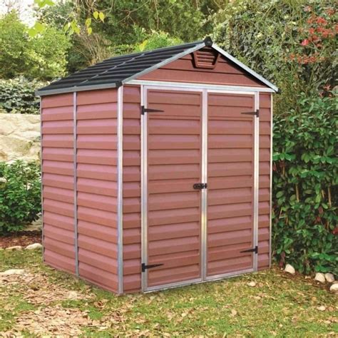 6x5 Shed by Palram Skylight Plastic Apex Shed 6x5 Garden