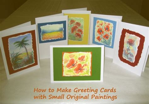 how to make my own greeting cards how to create greeting cards with original paintings