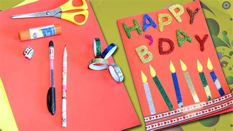 craft card happy birthday greeting card diy birthday card easy