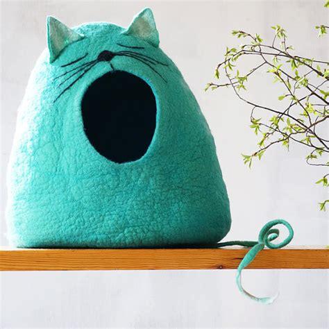 gatto a letto gatto letto grotta di gatto cat casa feltrata gatto di