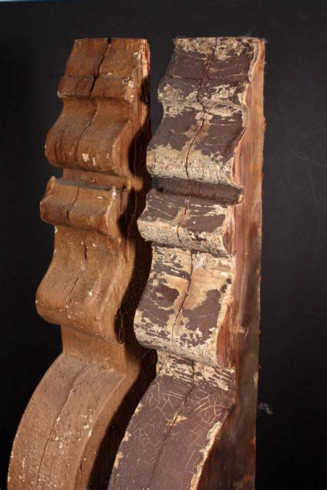 Large Wood Corbels For Sale Two Matching Pairs Of Large Antique Corbels C 1870 S