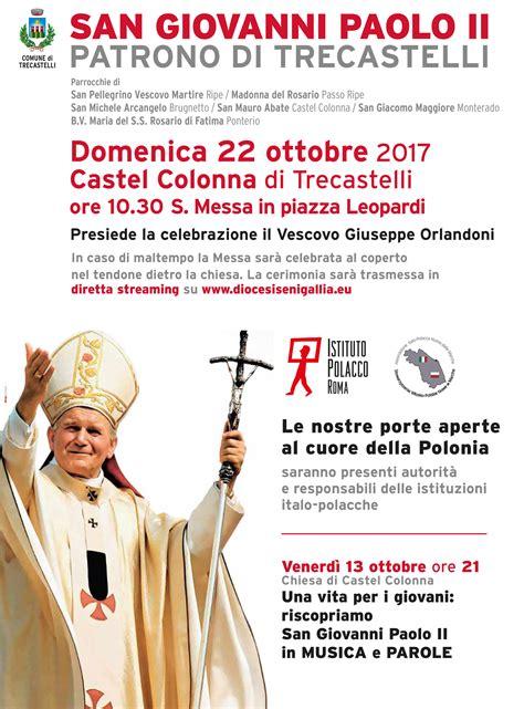 consolato italiano a varsavia san paolo ii patrono di trecastelli consolato