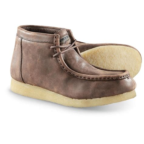sole shoes s roper performance gum sole moc toe shoes brown