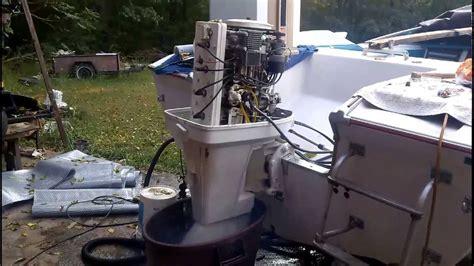 test run 1976 chrysler 105 outboard