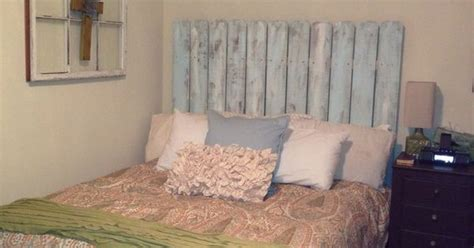 Duck Egg Blue Headboard by Diy Headboard Fence Painted With A Light Then