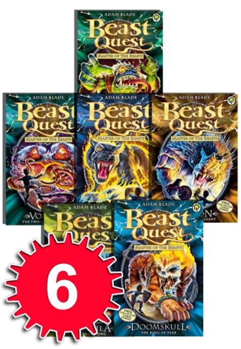 the beast of ten books beast quest series 10 collection adam blade 6 books set