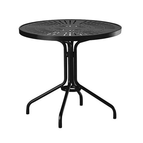 30 Quot La Stratta Punched Aluminum Top Round Dining Table Aluminum Top Dining Table