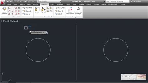 adan087 tutorials autocad a parametric symmetry