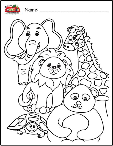 coloring book pdf animals test