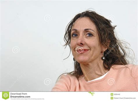 attractive middle aged women dark hair attractive middle aged woman stock photography image