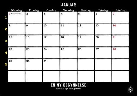 norway design kalender karanba kalender 2018