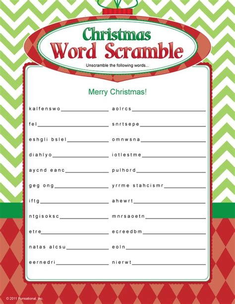 easy christmas games for adults word scramble decorating ideas words words and