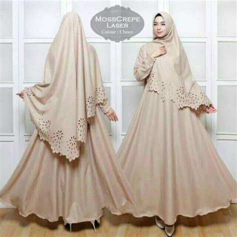 Dress Maxi Wanita Muslim Motif Kubus Busui original asli mosscrepe laser syari maxi dress
